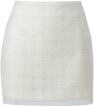 Simone Rocha Layered tweed and tulle miniskirt