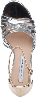 Diane von Furstenberg Priene Evening Sandal Silver Multi Leather