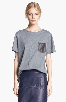 Alexander Wang Leather Pocket Tee