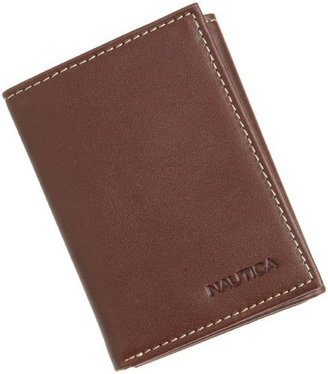 Nautica Men's Vegetable Tanned Trifold Wallet