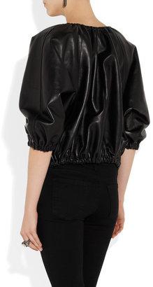 Lanvin Leather bomber jacket