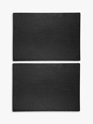 The Just Slate Company Trivets, Set of 2, Black