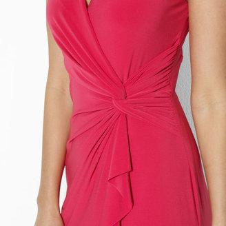 Ralph Lauren Sleeveless Ruffle-Front Gown