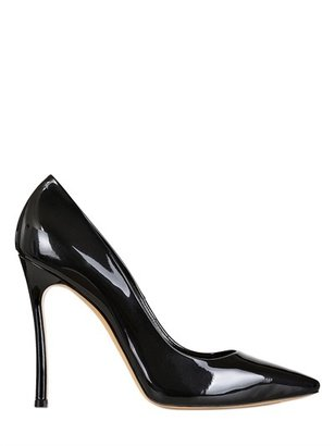 Casadei 100mm Pointed Patent Leather Pumps