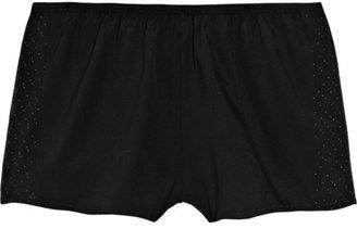 3.1 Phillip Lim Embellished stretch-silk boy shorts