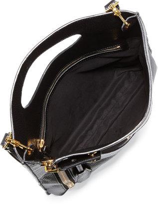Tom Ford Alix Zip & Padlock Crossbody Bag, Black