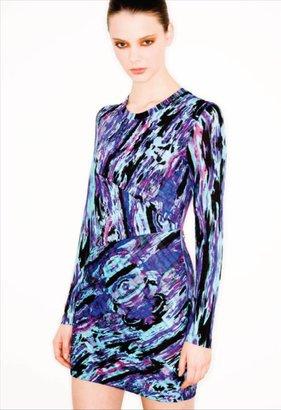 Splurge: Lala's Torn by Ronny Kobo Cosmic Grafitti Zigzag Pleat Dress