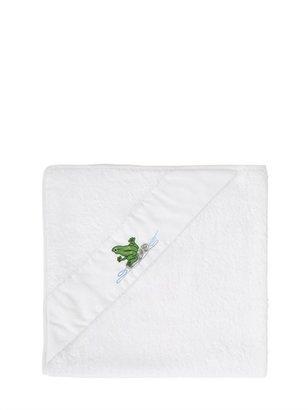 Embroidered Cotton Piqué Towel