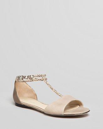 Elie Tahari T-Strap Sandals - Nairobi