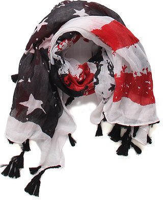With Love From CA Tattered American Flag Scarf