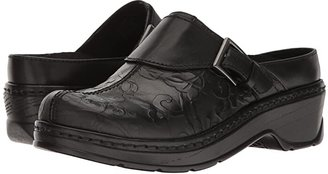 Klogs USA Footwear Austin (Black Flower Tool) Women's Clog Shoes