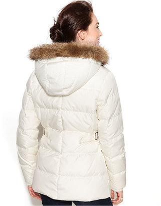 Tommy Hilfiger Hooded Faux-Fur-Trim Toggle-Front Puffer Coat