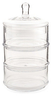 """16"""" 3-Tier Glass Canister"""