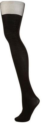 Topshop Black plain suspender tights