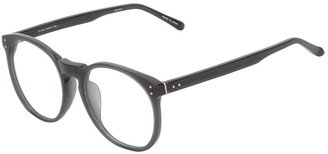 Linda Farrow Luxe optical large round frame glasses