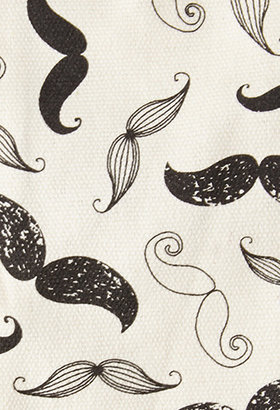 Forever 21 Mustache Print Sunglasses Pouch
