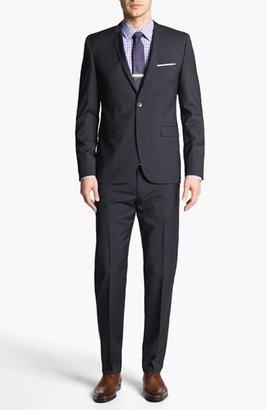 HUGO 'Adris/Heibo' Extra Trim Fit Stripe Suit (Online Only)