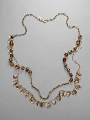 New York & Co. City Style Bead and Disc Necklace