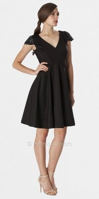JS Boutique Black Cap Sleeve Cocktail Dresses