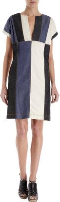 Derek Lam 10 Crosby Colorblock Short Sleeve Dress
