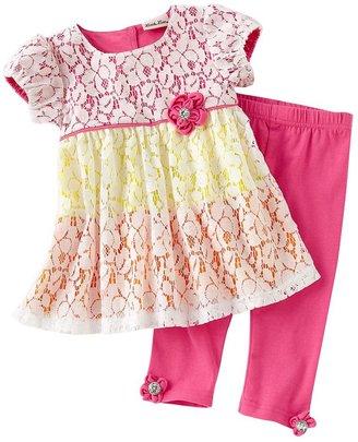 Little Lass floral dress & leggings set - toddler