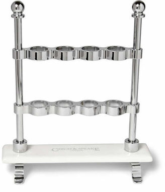 Czech & Speake Chrome And China Toothbrush Stand - Silver