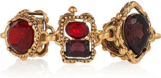 Oscar de la Renta 24-karat gold-plated crystal bracelet