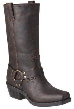 Mossimo Women's Katherine Genuine Leather Engineer Boot - Brown
