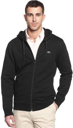 Lacoste Sweatshirt, Full Zip Fleece Hoodie