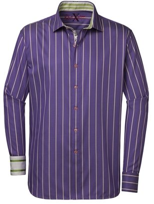 Robert Graham Men's Aruba Short Sleeve Shirt - Purple