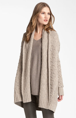 Vince Mixed Knit Oversized Cardigan
