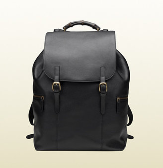 Gucci Black Leather Backpack
