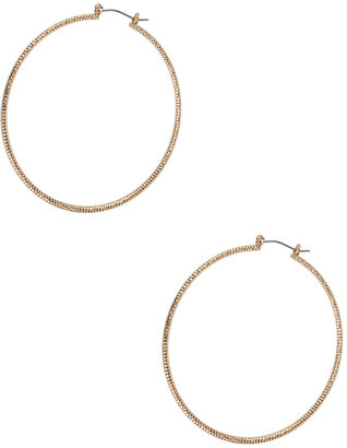 Forever 21 Textured Hoop Earrings