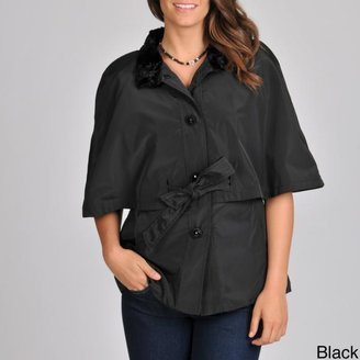 Betsey Johnson Women's Cape Belted Rain Coat $104.99 thestylecure.com
