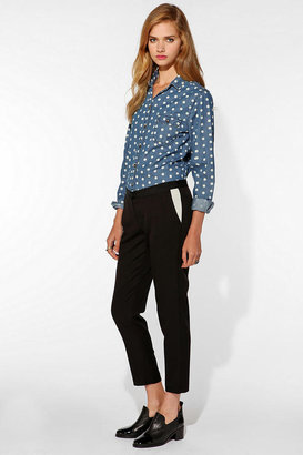 UO FaceHunter X Teddy Cropped Cigarette Pant
