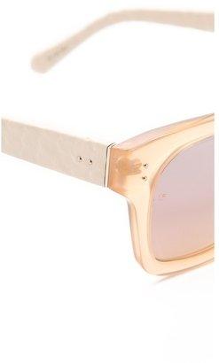 Linda Farrow luxe Snakeskin Thick Rimmed Sunglasses