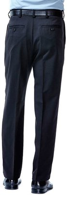 Haggar Men's Cool 18® Classic-Fit Pleated No-Iron Expandable Waist Pants