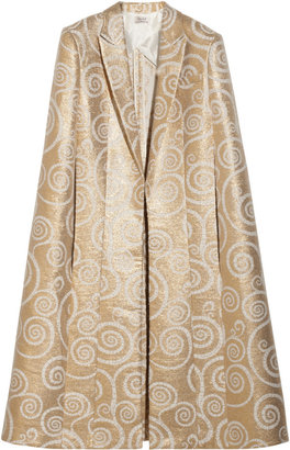 L'Wren Scott Metallic jacquard cape
