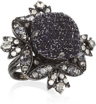 Lanvin Swarovski crystal ring