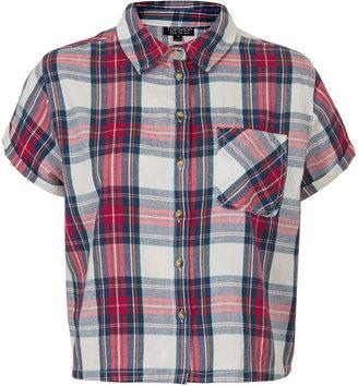 Topshop Short sleeve check shirt