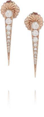Anita Ko Dagger 18-karat rose gold diamond earrings