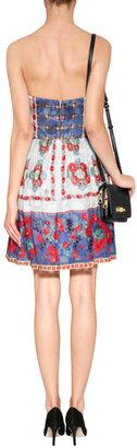 Anna Sui Daisy Chain Print Dress in Cornflower Multi