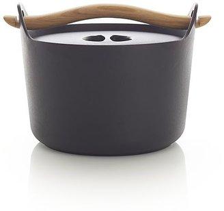 Crate & Barrel Sarpaneva Dutch Oven with Wood Handle