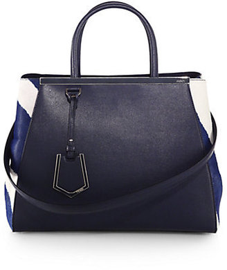 Fendi 2Jours Medium Leather & Calf Hair Bag