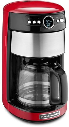 KitchenAid 14-Cup Programmable Coffee Maker with Glass Carafe in Contour Silver