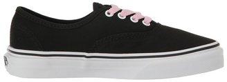 Vans Kids Authentic Black/True White) Girls Shoes