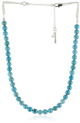 """Kenneth Cole New York """"Turquoise Item"""" Turquoise-Color Frontal Necklace"""