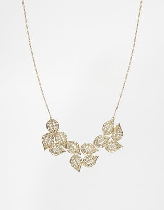Warehouse Filigree Leaf Detail Necklace