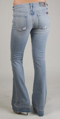 7 For All Mankind Jiselle w/Let Down Hem in Pink Whiskered