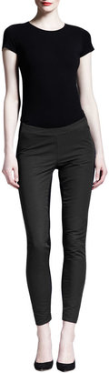Gareth Pugh Bicolor Seamed Skinny Pants